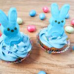 Kid Friendly Easter Peeps Bunny Cupcakes