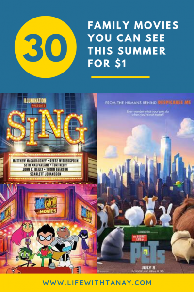 30 Movies You (and your kids) Can See For $1 This Summer at Regal Cinemas