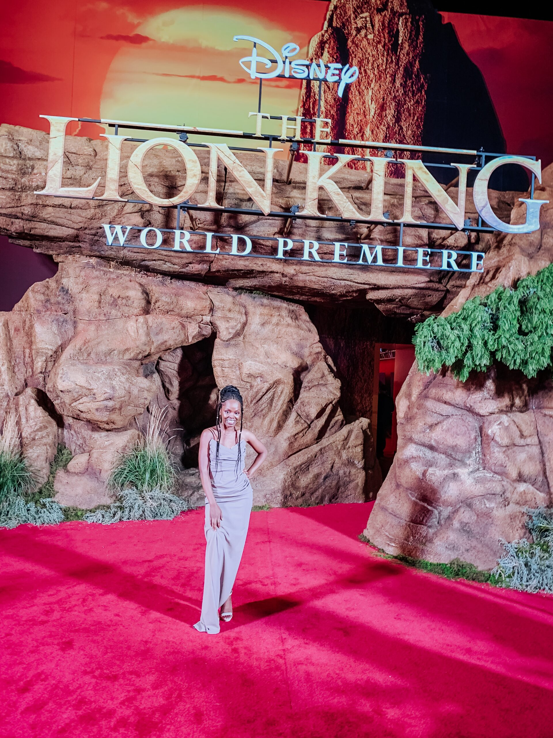Walking the Red Carpet at the LA Premiere of The Lion King